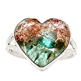 Xtremegems Aquamarine In Sunstone 925 Sterling Silver Ring Jewelry Size 11 15292R