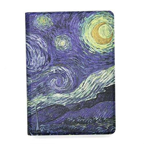 """JMM - The Starry Night Vincent van Gogh Painting Design PU Leather Protection Cover Case with Card Slot for Amazon Kindle Fire HD 7, 7"""" HD Display 2014 Release (NOT Support HDX 7, HD 7 2013 2012 Release) Support Smart Cover Function"""