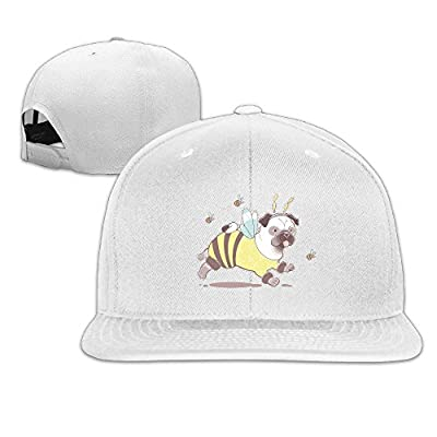 Mossey Raymond Athletic Baseball Cap Print Funny Bee Pug, 100% Cotton Adjustable for Men Women