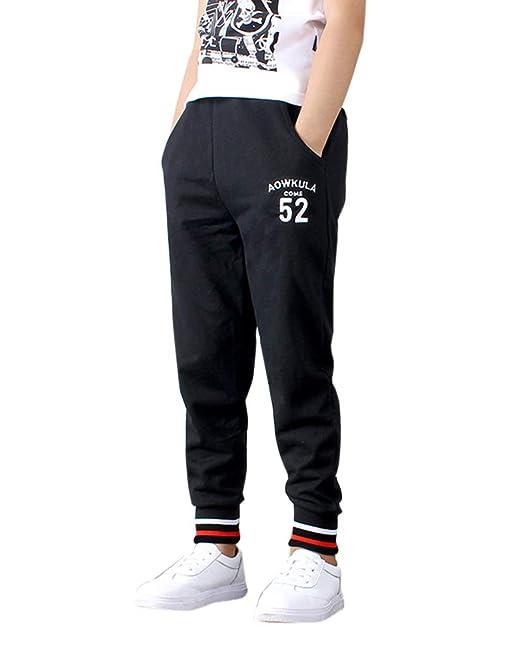 Liangzhu Pantalón para Niño Niñas Casual Jogging Pantalón De ...