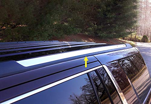 Made in USA! Works with 2015-2019 Chevy Tahoe GMC Yukon Roof Rack Body Molding Trim Cover ()