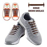 Shoes Best Deals - Homar No Tie Shoelaces for Kids and Adults - Best in Sports Fan Shoelaces - Waterproof Silicon Flat Elastic Athletic Running Shoe Laces with Multicolor for Sneaker Boots Board Shoes and Casual Shoes