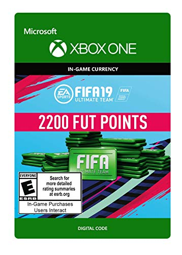 Video Games : FIFA 19: ULTIMATE TEAM FIFA POINTS 2200 - Xbox One [Digital Code]