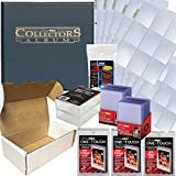 Baseball Card Collecting Complete Kit - Binder, Pages, Soft Sleeves, Top Loaders, One Touch, Plastic Cases, More!