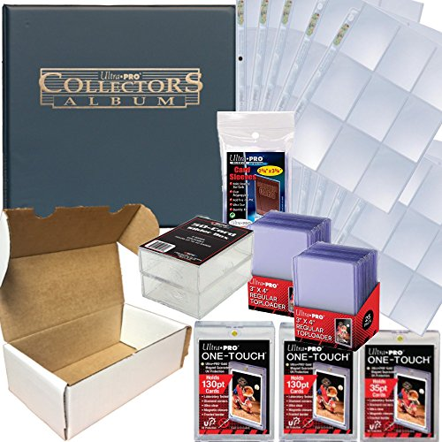 - Baseball Card Collecting Complete Kit - Binder, Pages, Soft Sleeves, Top Loaders, One Touch, Plastic Cases, More!