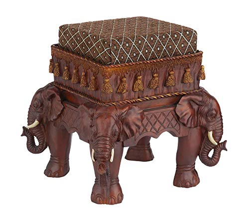 Office Home Furniture Premium The Maharajah's Elephants Sculptural Upholstered - Hutch Hand Carved