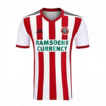 Adidas 2018-2019 Sheffield United Home Football Soccer T-Shirt Camiseta: Amazon.es: Deportes y aire libre