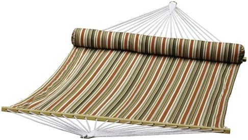 Algoma kzart 2931DL Quilted Reversible Hammock, 13-Feet, Brown-Beige-Rust-Off White