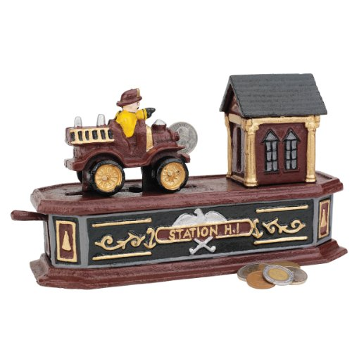 Classic Collectors Fire Station Number Collectors Die-cast Iron Mechanical Co... by XoticBrands