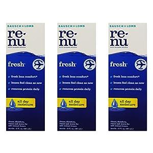 Renu Fresh Multi-Purpose Contact Lens Solution 2 oz Travel Size (Pack Of 3)