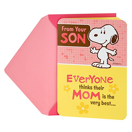 Hallmark Mother's Day Funny Greeting Card from Son (Snoopy)