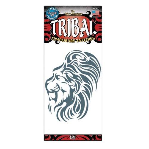 Lion Tribal Design Type Temporary Tattoo -