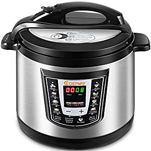Costway Electric Pressure Cooker Brushed Stainless Steel and Aluminum, 120 V 60 Hz, 1000W, 6 quart 10