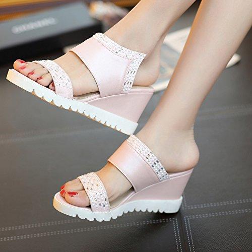 ZHZNVX sandali moda Green con con e donna alla casual pantofole pendenza Parola sandali 7PqIwxgrP