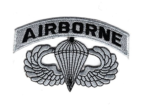 Airborne Jump Wings Paratrooper Embroidered Hook Fastener Patch (3.5 X 2.25)
