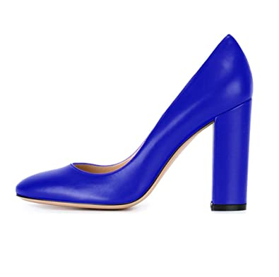 bf2d9fc9e4cce3 uBeauty Damen Blockabsatz Pumps High Heels Lack Round Toe Pumps Sexy 10 cm Heel  Pumps - rocket-league-community.de