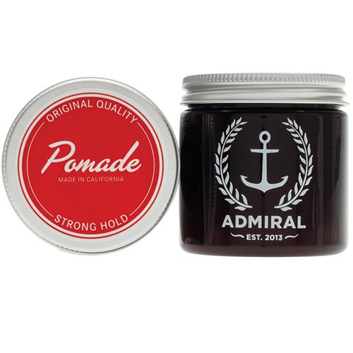 Admiral Classic Pomade (Strong Hold/Medium Shine) 4oz - Paraben Free - Professional Grade Formula for Straight, Thick or Curly Hair