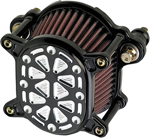 Joker Machine Omega Air Cleaner Techno Black Silver 02-168-2