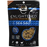 Enlightened Plant Protein Gluten Free Roasted Broad (Fava) Bean Snack, Sea Salt, 3 Ounce,6 Count