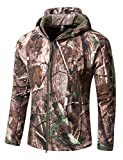 YFNT Men's Outdoor Soft Shell Tactical Army Coat Hunting Jacket (Tree Camouflage)