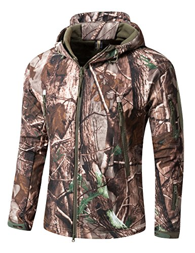 Pêche Softshell Tarnung Capuche Yfnt Chasse Manches Camouflage À blaetter Camping Longue Pour Homme Imperméable Multicolore XwwPqgHxn6