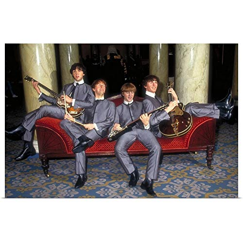 GREATBIGCANVAS Poster Print Entitled The Beatles Waxwork Models in Madame Tussauds, London, England by 18