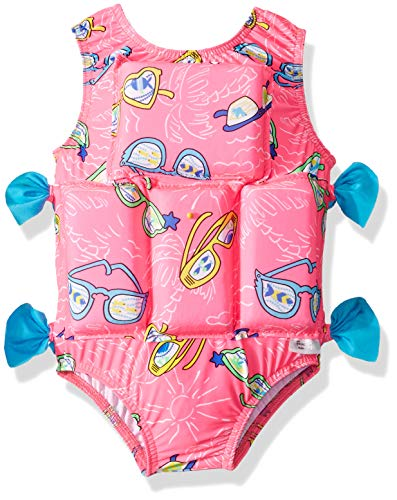 (My Pool Pal Baby Girls Flotation Swimsuit, Pink Sunglasses, Extra Small)