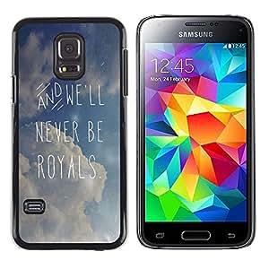 TopCaseStore / la caja del caucho duro de la cubierta de protección de la piel - Quote Clouds Summer Text - Samsung Galaxy S5 Mini, SM-G800, NOT S5 REGULAR!