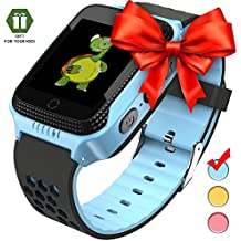 Smart watch for kids Smart watches for boys Smartwatch gps tracker watch Wrist android mobile Camera cell phone Best Gift for girls children boy pink blue yellow