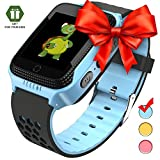 Smart Watch for Kids - Smart Watches for Boys Smartwatch GPS Tracker Watch Wrist Android Mobile Camera Cell Phone Best Gift for Girls Children boy Pink Blue Yellow