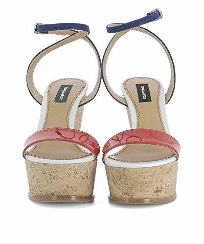 Multicolore Cuir Chaussures Compensées Femme S17W205404M023 Dsquared2 EwWqxU1PU