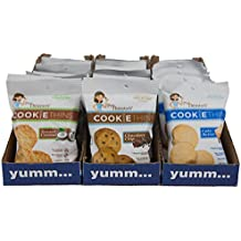 Mrs. Thinster's Cookie Thins Variety Pack, Chocolate Chip, Toasted Coconut, Cake Batter Flavor, Thin Crunchy Cookies, Non-GMO, No Artificial Ingredients, Peanut-Free, 1.5oz Bags, Pack of 24