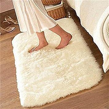 Soft Fluffy Rugs Anti Skid Shaggy Rug Dining Room Home Bedroom Carpet Floor  Mat