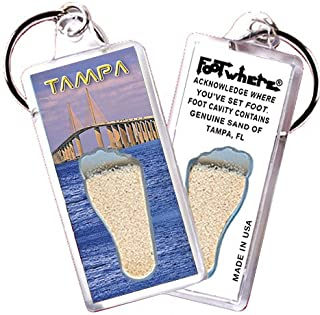 """product image for Tampa""""FootWhere"""" Souvenir Keychain. Made in USA (TP102 - Skyway)"""