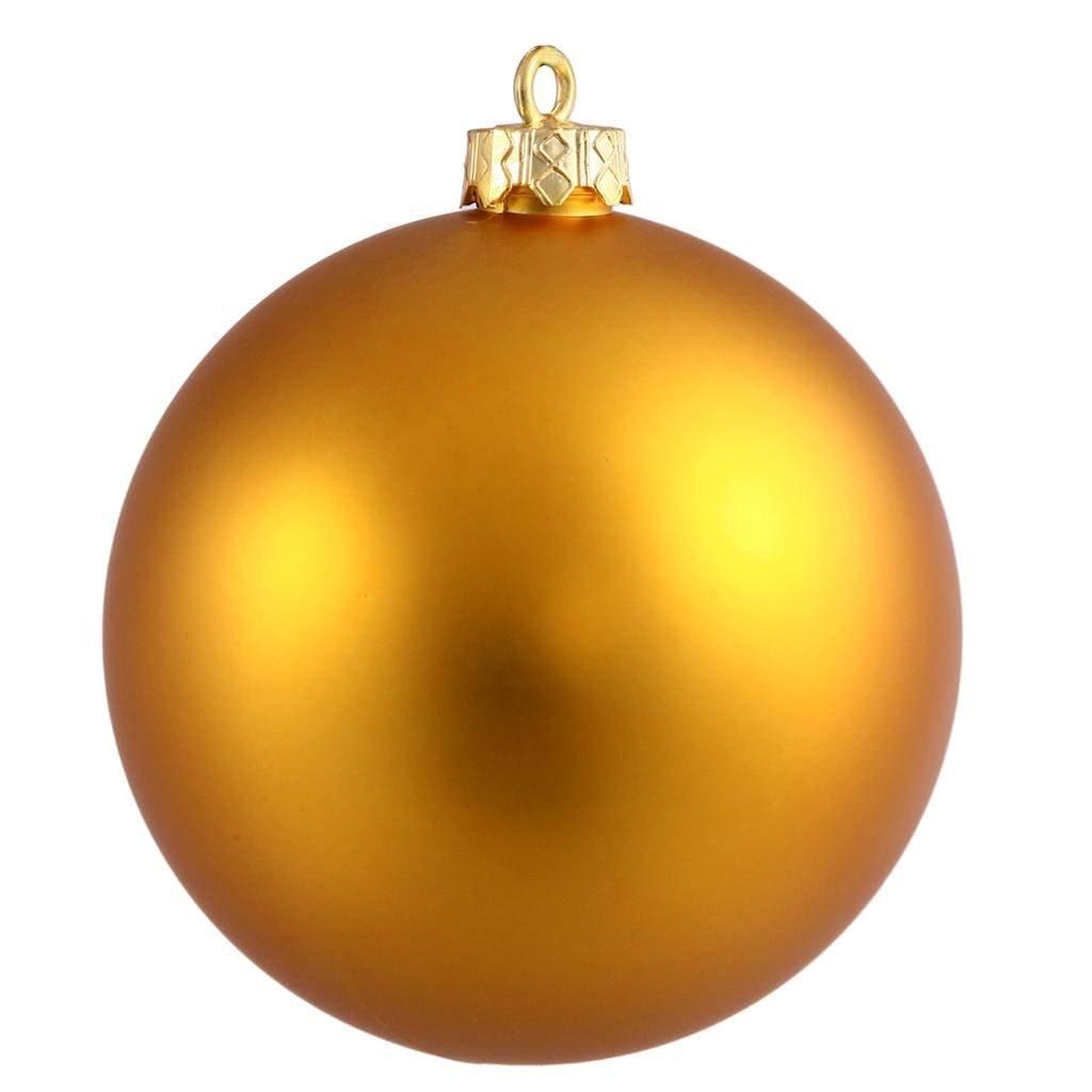 Vickerman Shatterproof Matte Ball Ornaments, 60 per Box, 2.4'', Antique Gold