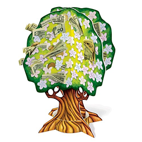 3-D Baby Shower Money Tree (slotted to hold money) Party Accessory  (1 count) (1/Pkg)