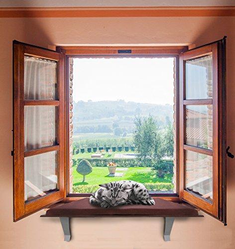 kleeger cat window perch seat sunny kitty window sill. Black Bedroom Furniture Sets. Home Design Ideas