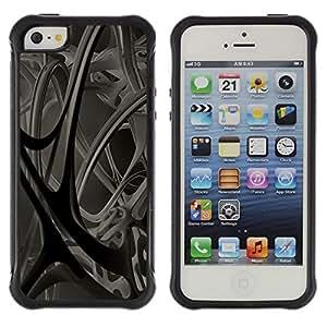 "Pulsar iFace Series Tpu silicona Carcasa Funda Case para Apple iPhone SE / iPhone 5 / iPhone 5S , Vasos sanguíneos Anatomía Estructura 3D Arte Moderno"""