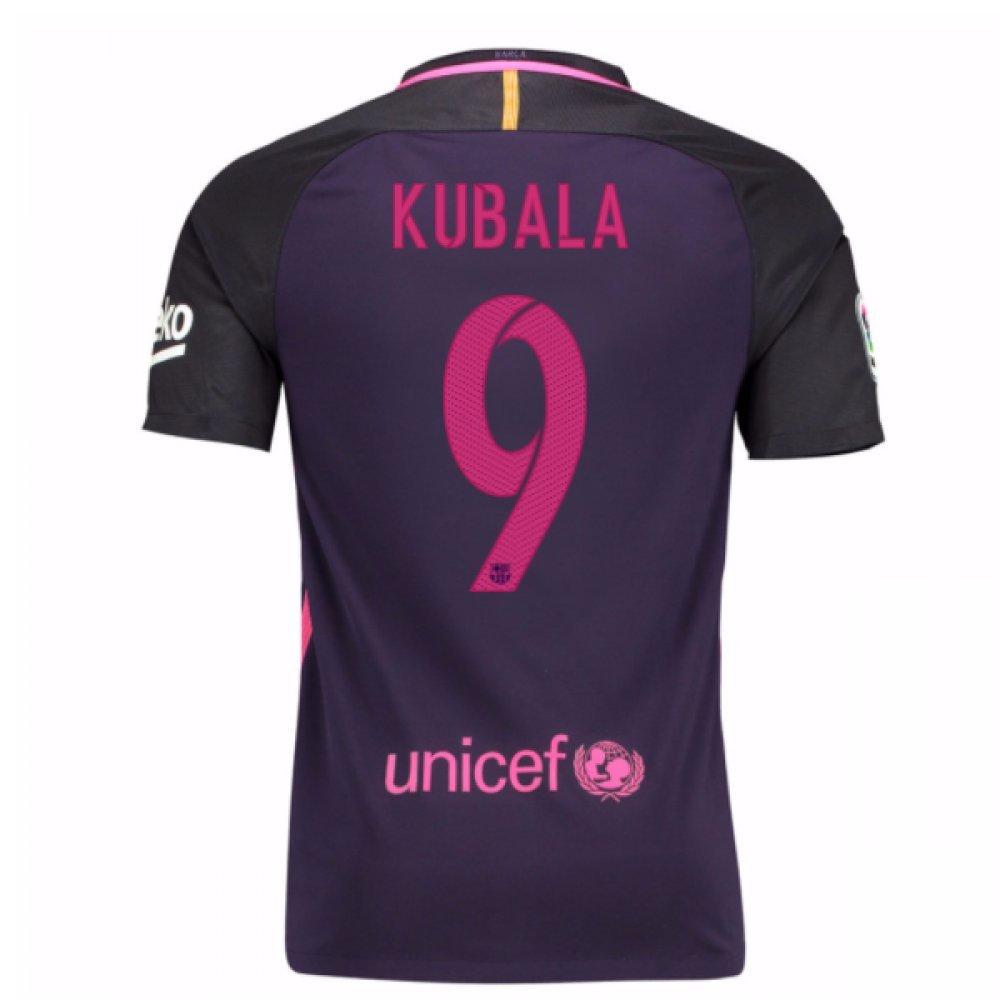 2016-17 Barcelona Away Shirt (Kubala 9) B077Z44TX1Purple Small 34-36\