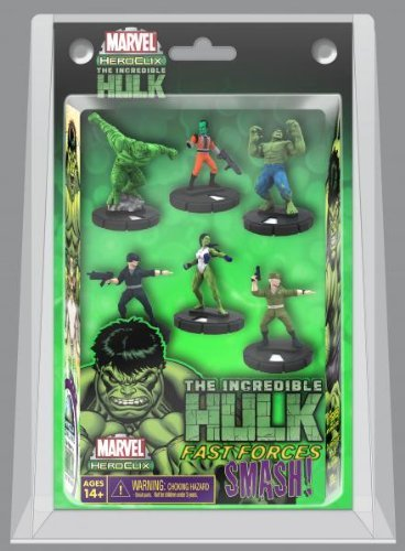 - Marvel Heroclix The Incredible Hulk Fast Forces Deluxe Starter Game Includes 6 Figures