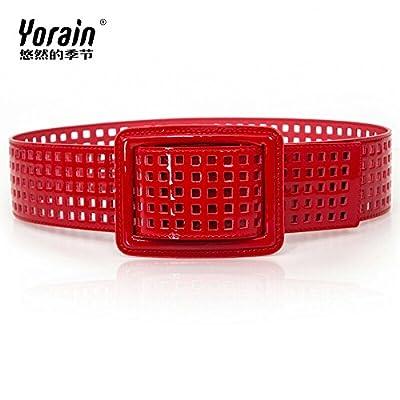 9a0656041e0 ZHANGYONG Mme Western style ceinture large en cuir verni cuir vernis  gravure personnalité dame ceinture ceinture rouge ceinture jupe