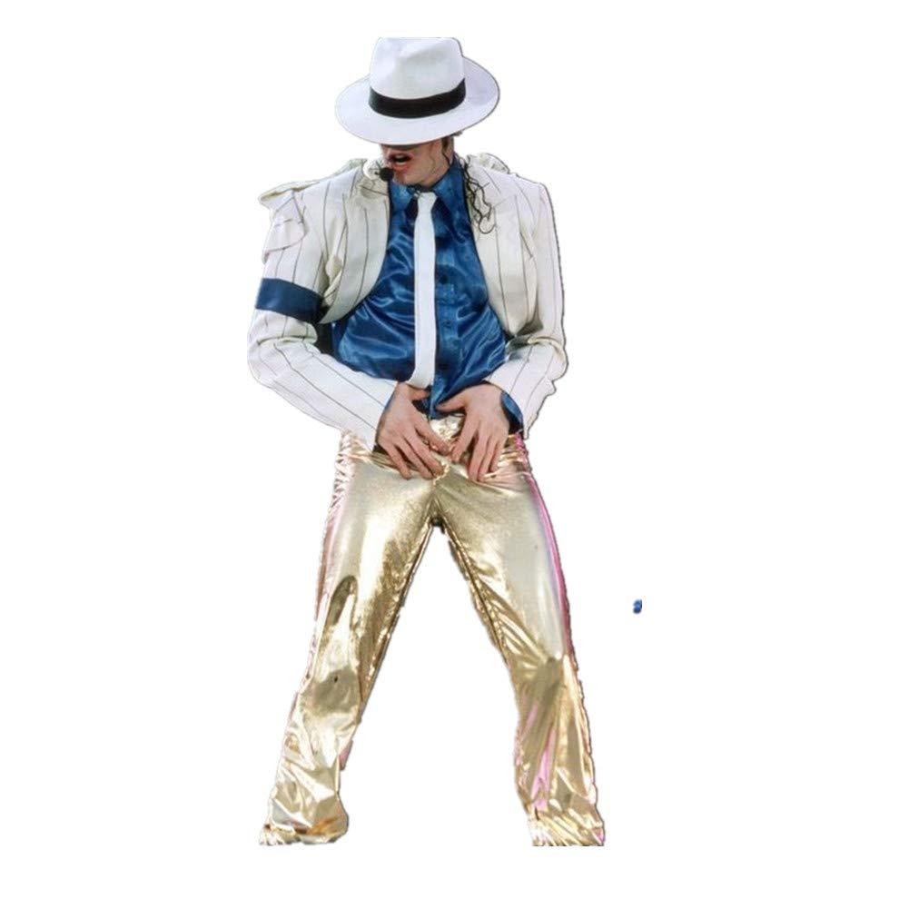 Michael Jackson Kostüm Kind Erwachsene Michael Jackson Cosplay Streifen Glatte Verbrecher Anzug Jacke + Pants + Shirt + Hut + Tie