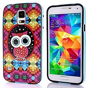 LIMME ships in 48 hours Lovely Owl Picture TPU + PC 2-in-1 Hard Case Cover For Samsung Galaxy S5 I9600