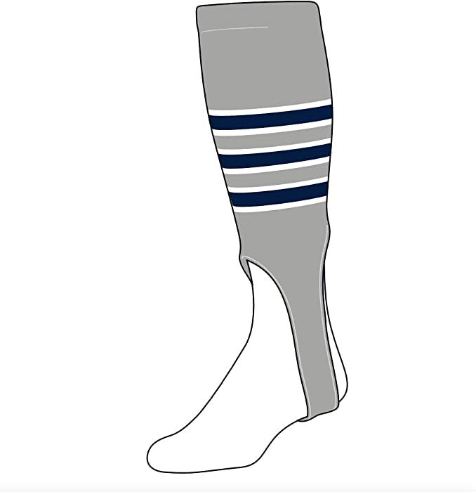 5cbf0497f86ed Amazon.com: TCK Baseball Stirrups Medium (200D, 7in) Grey, White ...