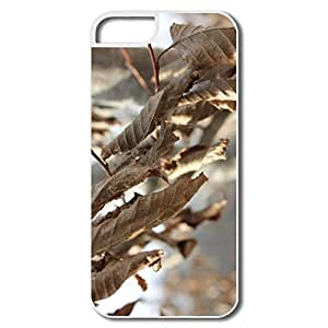 Cool Brown Leaves IPhone 5/5s Case For Birthday Gift