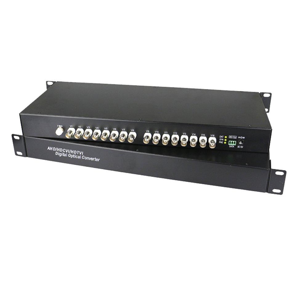 Guantai 960P/720P HD CVI AHD TVI 16 Channels Video Fiber Optical Media Converters ,FC, Singlemode 10Km for 960p 720p AHD CVI TVI HD CCTV