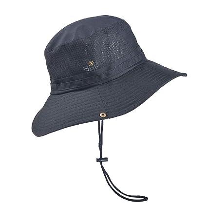 fe31f2dcd257a1 Oneskyside Men Boonie Fishing Bucket Hat,Wide Brim Sun Visor UV Protection  Floppy Summer String