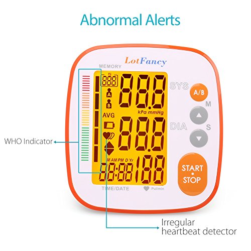 Blood Pressure Monitor by LotFancy, Automatic Upper Arm BP Cuff, 2-User Mode, 8.6 to 12.6 Inches, FDA Approved by LotFancy (Image #4)