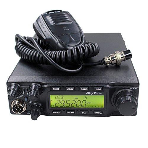 AnyTone AT-6666 10Meter Amateur CB moblie radio 40CH 60W High Power AM FM SSB Amateur Transceiver