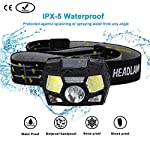 LED Headlamp Flashlight 280 Lumen Head Lamps Torch, USB Rechargeable Waterproof Headlamps with Focus for Camping, Hiking,Outdoor & Indoor,6 Lightning Modes, White/Red LEDs and Sensor Switch